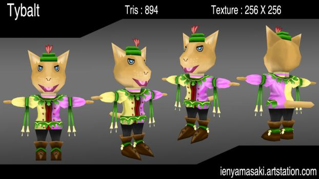 Tybalt The cat - Low Poly by sudro