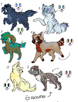 Canine Adoptables- open by poisonflame