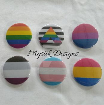 Pride Flag Buttons by Branxnia