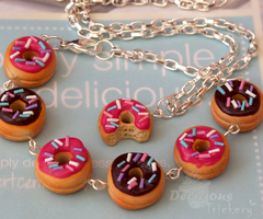 Donuts Bracelet + Necklace Set by DeliciousTrickery