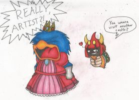 Halloween Dedede and Taran-HAHAHAHAHA! by Broken-Hedgehog