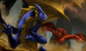 Commish- Becaria vs Smaug by Ucaliptic