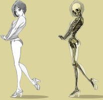 Skeleton illustration by adistantplace