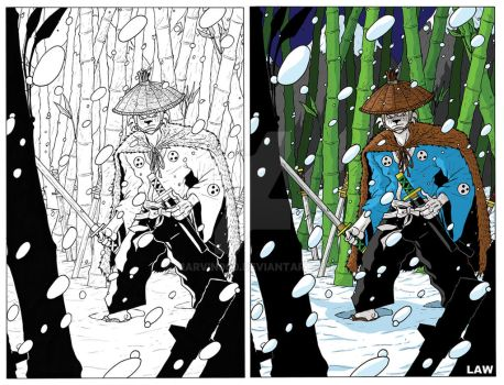 Usagi Yojimbo in the Haunted Bamboo Forest by Marvin000