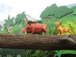 Simba, Timon, and Pumbaa (Art of Animation) by renthegodofhumor