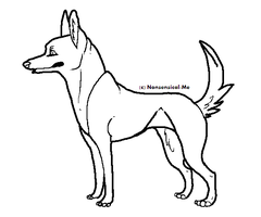 FREE Canine Lineart by Nonsensical-Me