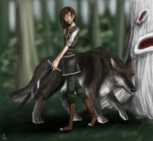 older arya and nymeria by kaleadora