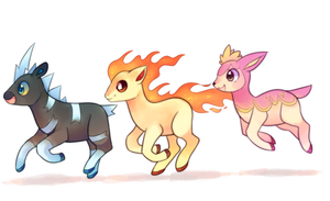Racing Trio by pekou