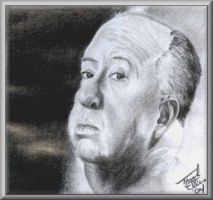 Alfred Hitchcock by Trigar