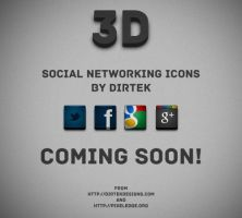 3D Social Networking Icons - PREVIEW by DirTek
