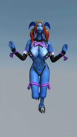 Draenei Gif Run (Diva set) by F-Kn