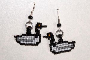 Custom Loon Earrings by purpleyoshi1