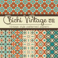 Free Chichi Vintage 52 Patterned Papers by TeacherYanie