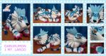 Garurumon digimon plush 1 mt by chocoloverx3