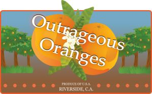 Outrageous Oranges Label by lifeinxgeneral