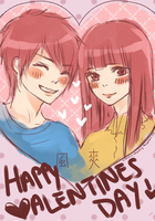 Kaze+Sawa: Happy Valentine's Day! by VitriolicIntimacy