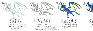 How I draw Dragon (turtorial) by Tomek1000