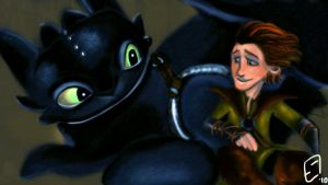 Hic and Toothless by scarymissquee