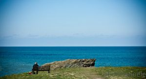 Looking out to sea by oEmmanuele