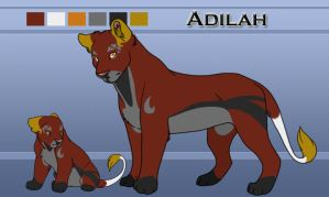 Adilah From Cub to Adult by CreatureCreatingBabe