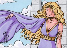Aphrodite Sketch Card - Classic Mythology by ElainePerna