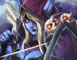 Heroes of The Storm : Sylvanas by kaiser-nagai