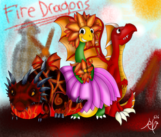 Dragonvale- My Fire Dragons by Ruby-Orca-616