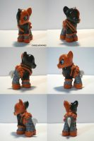 Deathstroke (Slade) Pony by ChibiSilverWings