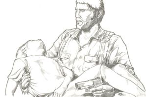 The Last of Us Joel Rescues Ellie - Day 8 by csteoh