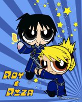 Crossover- Powerpuff Roy and Riza by DaphInteresting