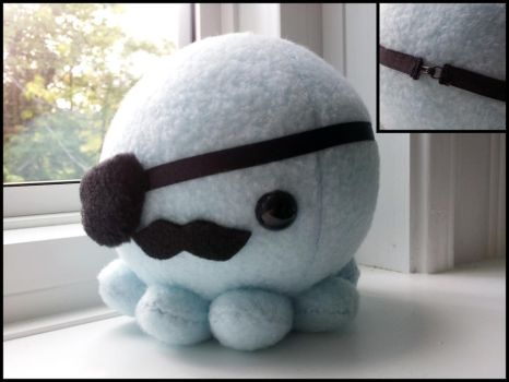 Pirate Octopus plush by ValkyriaCreations