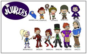 Junker Family - Loud House Style - Char Design Fun by creudence