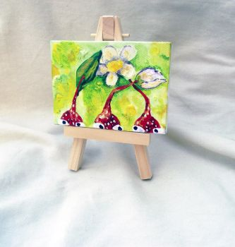 Pikmin Mini Art - with Easel by DrowsyDoormouse