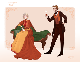 1890s fashion - Fall by Nibilondiel