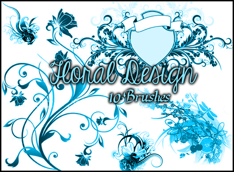 Floral Brushes by Illyera