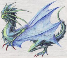 Green dragon by Eppon