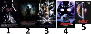 Top 5 Friday the 13th movies. by Abyss1
