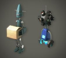 Courier and Security Bots by 2createmedia
