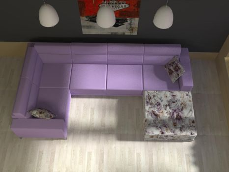 Aston Lilac Sofa by davidfly