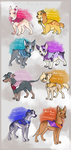 ~Flower Pups~ Design Auctions -CLOSED- by Kitchiki