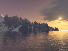 Antarctic Sunset by shandyscribs