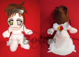 Yuna FFX Wedding plush version by Momoiro-Botan