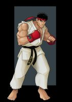 ryu (street fighter IV) by nightwing1975