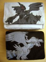 Zekrom and Reshiram Card Cases by fireflytwinkletoes
