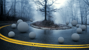 Road and Spheres by Bilend