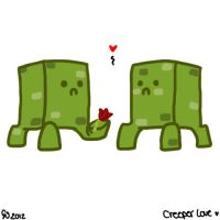 Creeper love by DarkMasterOfDragons