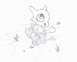 Cubone by Joey-Darkmeat