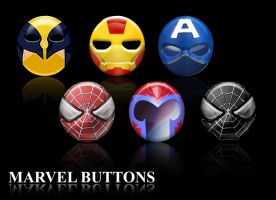 Marvel Glass Buttons - First Pack by AlessandroMancini