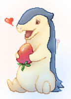 Typhlosion and his strawberry! by Ddqeen