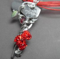 Passage no. 258 Rose Antique Skeleton Key Necklace by sojourncuriosities